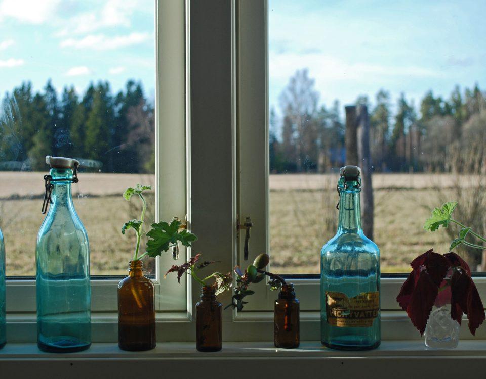 ta bort klister på glas